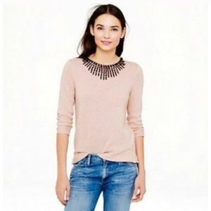 J Crew Womens Jeweled Starburst Sweater Pink - XS